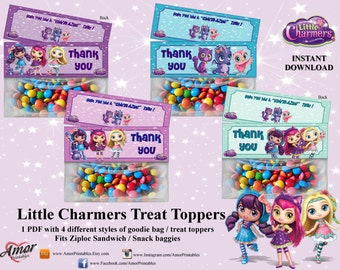 Little Charmers Treat/Goodie bag Toppers (4 ct)