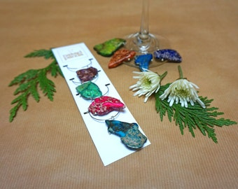 Natural Stone Wine Charms (Set of 4)