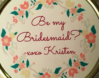 Be My Bridesmaid Candle, 4oz, 8oz, 16oz, Mason Jar, Soy, Customized, Handmade