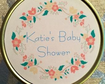 Set of 12 Baby Shower Candle Favors, 4oz, 8oz, 16oz, Mason Jar, Customized, Hand Poured
