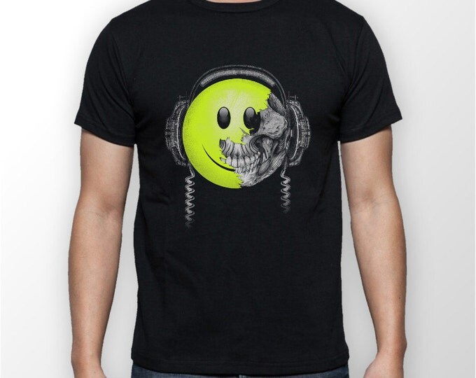 "Featured listing image: Men's ""Emogi Skull"" T-shirt  great Gift idea for a DJ ."