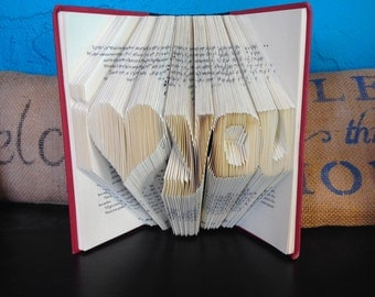 I love you  folded book- Valentine's Day - Christmas - Birthday - Mother - Father - Boyfriend - Girlfriend - Best friend - Grand parent