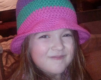 Children's Cotton Crocheted Sunhat with Brim