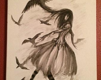 Corvus Raven Painting OukaMocha