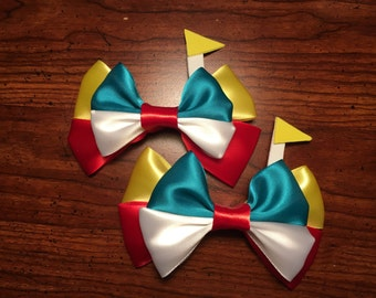 Handmade Tweedledee and Tweedledum Hair Bows (set of 2.)