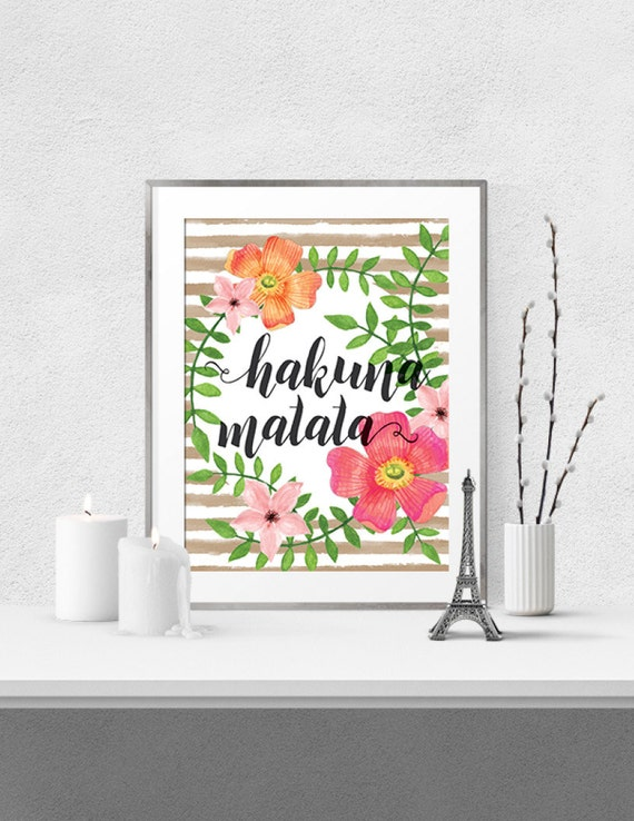 Hakuna Matata wall art wall nursery decor printable