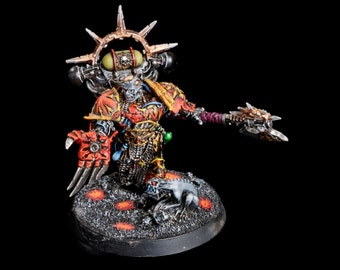 Warhammer 40k Chaos Space Marine Huron Blackheart Pro-painted metal extra fine detail