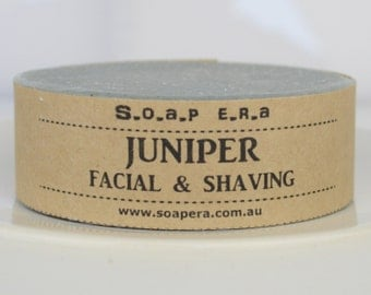 JUNIPER facial cleansing and shaving multi-tasking  soap-Men's grooming - Soap Era all natural handmade Cold Process vegan soap