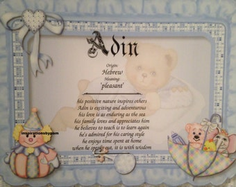 baby shower gift name meaning etsy