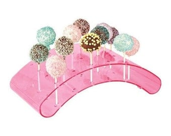 20 Hole Acrylic Cake Pop Lollipop Available In Clear Or Pink Display Stand Server Decoration Buy 2 Get 1 Free!!