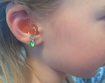 Gem Hearing Aid Jewelry - Please note if you want a pair your order quantity should be 2