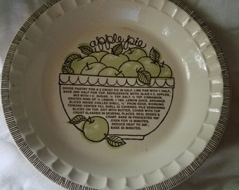 Royal China Jeanette Apple Pie Plate