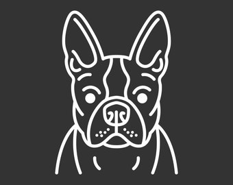 High Quality Boston Terrier Decal GD134