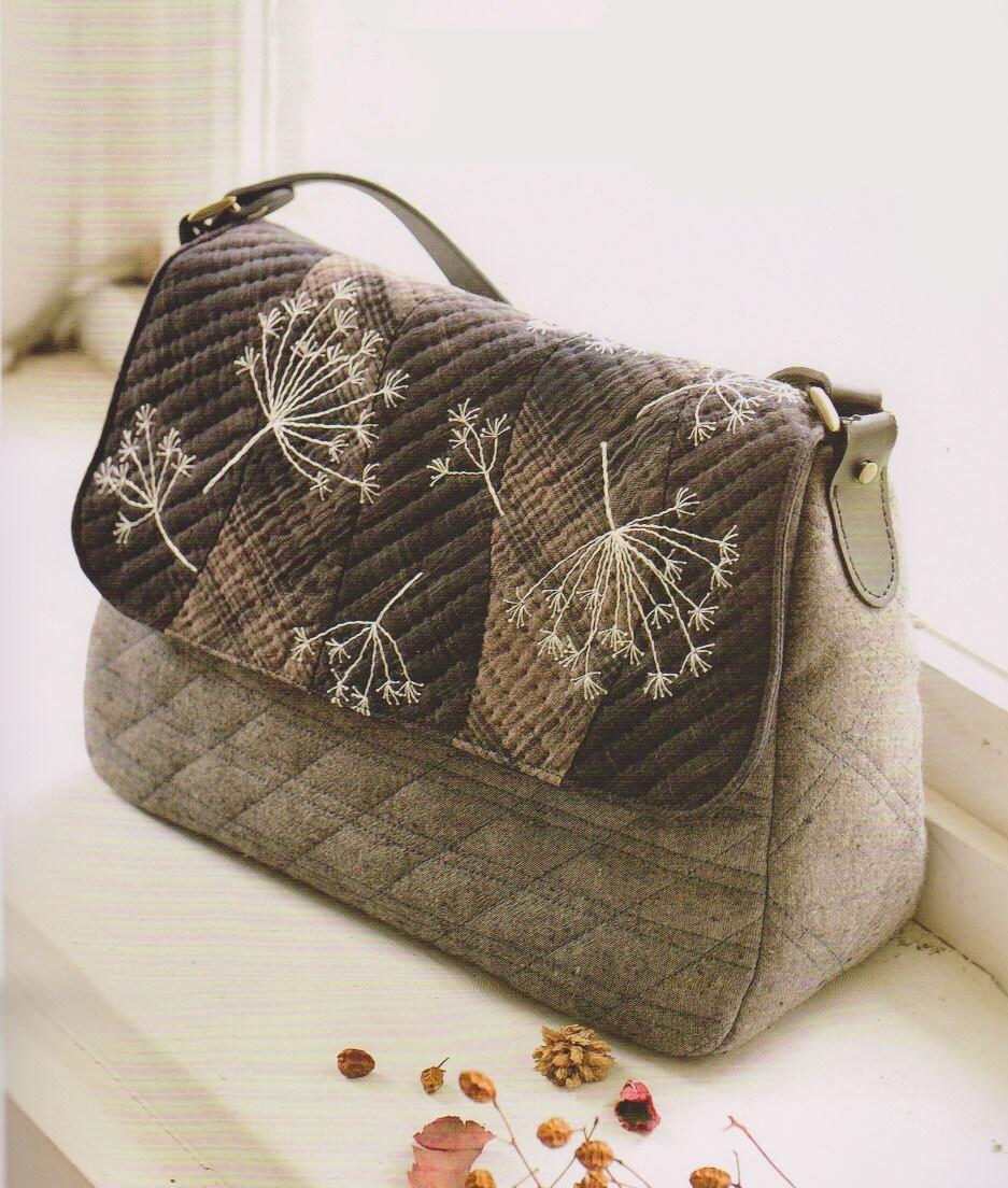 Pdf pattern tutorial shoulder bag handbag purse sewing
