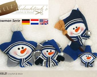 Snowman Serie - 4x Crochet Pattern
