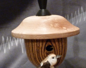 Barrell Bird House Ornament