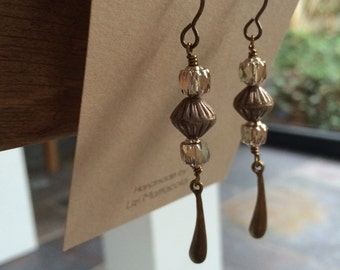 Bronze droplet earrings