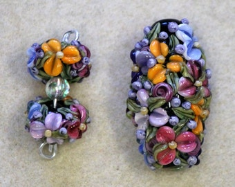 Floral Focal & Earring Set