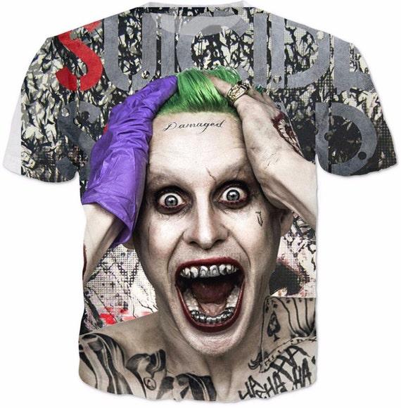 Suicide squad the joker damaged tattoo t shirt by lovecodea for Joker damaged tattoo