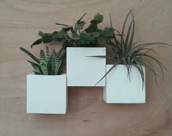 wall planters composition x3,vases,plant pots,vertical garden,living wall,green wall,vertical planter