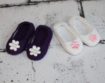 American Girl Wellie Wishers Inspired Doll Shoes/Set of 2/White & Purple