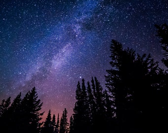 Stars - Milky Way - Starry - Sky - Stars Photo - Astronomy - Nature Prints - Digital Photo - Digital Download - Instant Download - Nursery