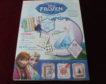 Disney Frozen Papercraft Crafting Kit,Toppers/14 Stamps/58 Inspiring Projects
