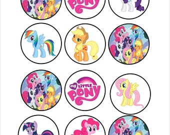 Edible My Little Pony Cupcake Toppers