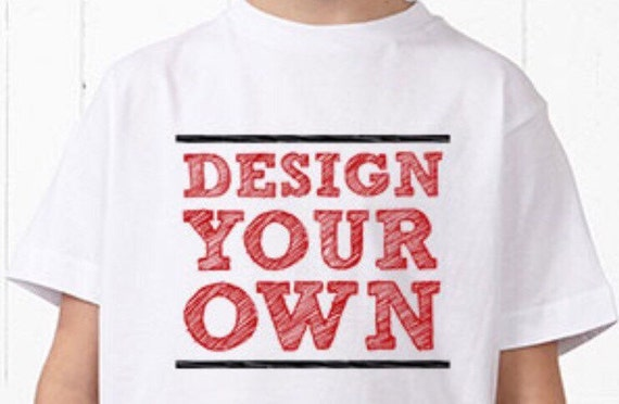 Kids t shirts design your own kids t shirt kids by etshirtie for Design your own logo for t shirts