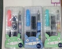 NEW 1 My Neighbor Totoro Fountain Pen with 6 replacement Ink Catridge