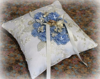 Ring Bearer Pillow,  Ring Pillow, wedding pillow, ring bearer pillows, something blue