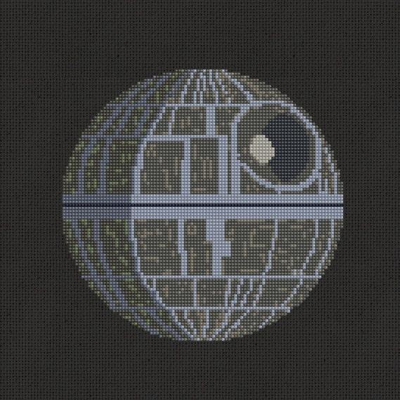 Death Star Star Wars Cross Stitch Pattern Modern
