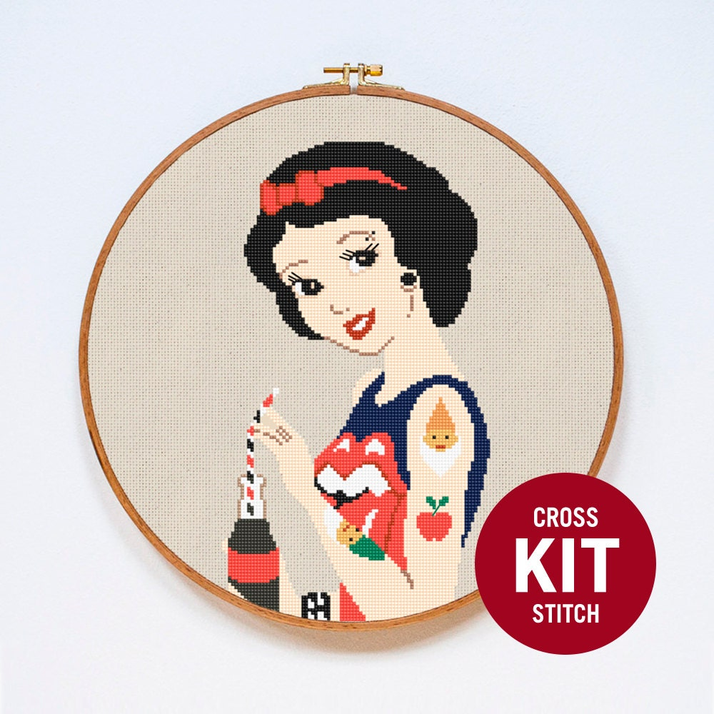Snow White Cross Stitch Kit Modern Disney Princess By