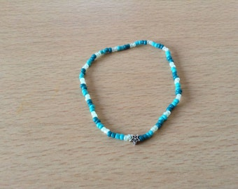 Blue bracelet with asterisk