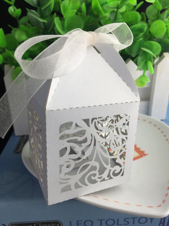 100pcs free shipping Laser Cut Wedding Gift boxes, Packaging box ...