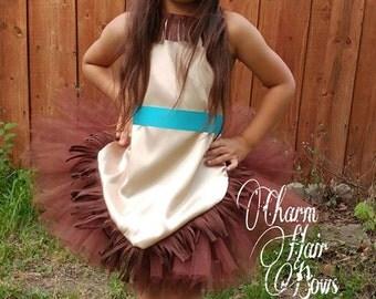 Pocahontas tutu dress with matching headband