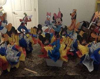 6 Mickey Mouse House Club Centerpieces