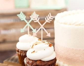 24 Arrow Cupcake Toppers ~ 1 Teepee Leaf Banner