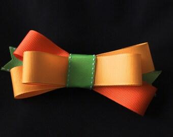 Large Colorful Triple Ribbon Bow