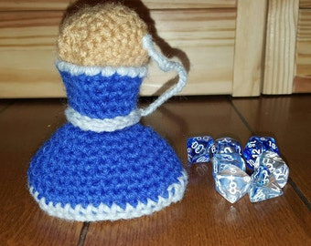 Crochet Dice Bag. Potion bag. Mana potion. Health potion. Handmade. Made to Order. Custom.