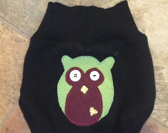 Upcycled wool Diaper Cover