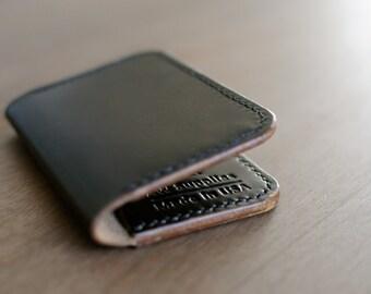 Three Pocket Card Wallet - Black