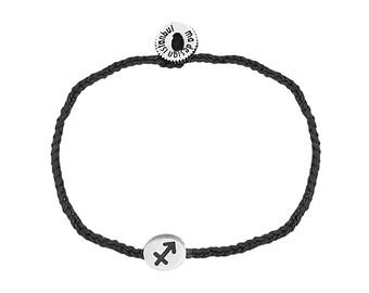 Zodiac Bracelet, Horoscope Bracelet, Silver Saggitarius Astrology Sign
