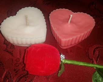 Valentine's Day Heart Shaped Scented Candles