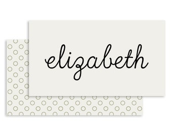 Simple Wedding Place Card | DIGITAL FILE | Grace | Printable DIY Wedding Invite, Wedding Reception, Name Card - Set of 10