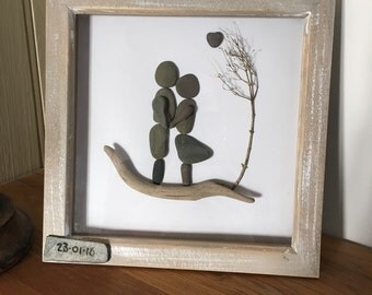 Pebble art wedding gift
