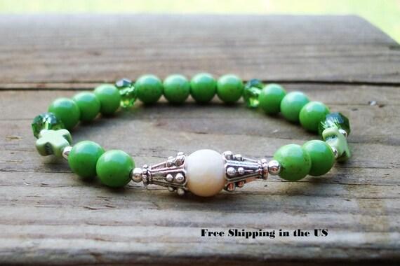 calm gemstone bracelet calming bracelet christian cross