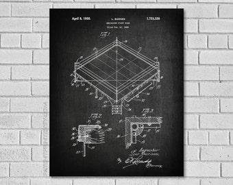 Boxing Art Patent - Boxing Ring Poster - Boxing Blueprint - Boxing Decor - Boxing Wall Art - Historic Boxing picture - Patentprint - SB328