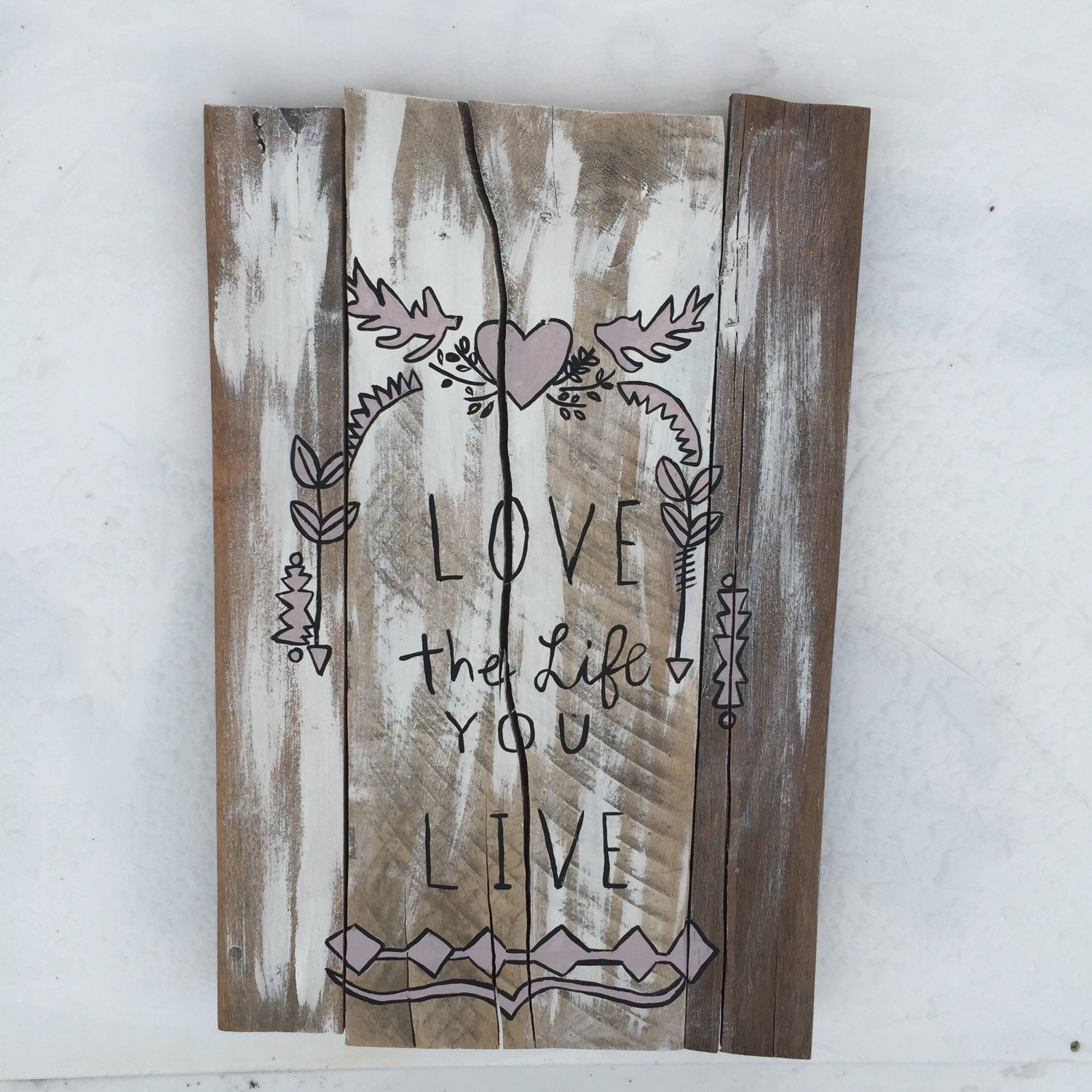 Boho Decor LOVE Life Live New Rustic Dcor Reclaimed Wood Wall