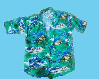 On SALE Vintage Hawaii Hipster Shirt Men's SM
